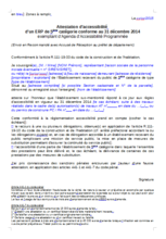 Attestation accessibilité