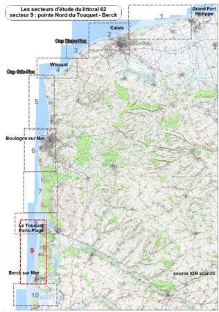 Secteur 9 Suivi du littoral du Pas de Calais Mer